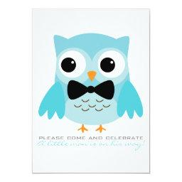 Aqua Owl with Bow Tie