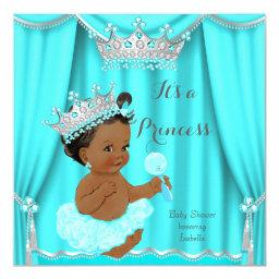 Aqua Teal Princess  Silver Ethnic