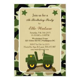 Army Military Camo Birthday Party