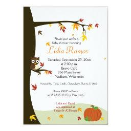Autumn Halloween  Invite