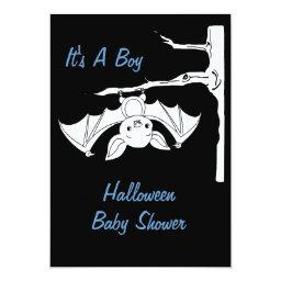 Baby Bat Halloween  Invitation
