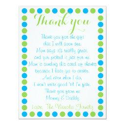 Baby boy shower thank you  from baby