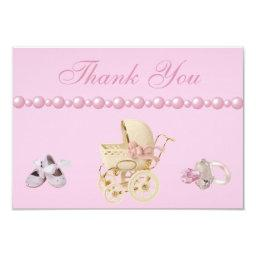 Baby Carriage, Shoes, Pacifier, Pearls Thank You