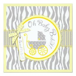 Baby Carriage, Zebra Print & Yellow