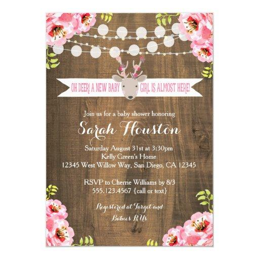 rustic baby shower invitations babyshowerinvitations4u