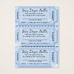 Baby Diaper Raffle Tickets Blue