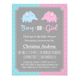 Baby Elephant Gender Reveal Baby Shower Party