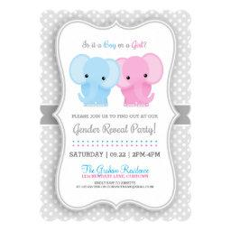 Baby Elephant Gender Reveal Party