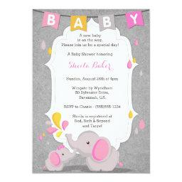 Baby Elephant Themed Baby Shower  PINK