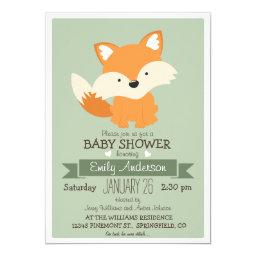 Baby Fox, Woodland Baby Shower or Sprinkle