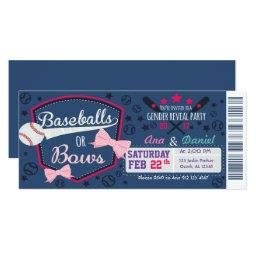 Baby gender reveal - Baseballs or Bows