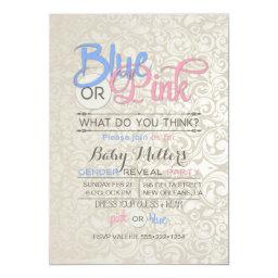 Baby Gender Reveal Party Satin Damask