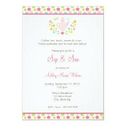Baby Girl Floral Sip and See
