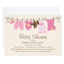 Baby Girl Laundry | Pink/Brown