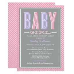 Baby Girl Shower | Chic Type in Pink and Purple