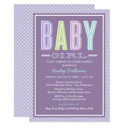 Baby Girl Shower | Chic Type in Purple