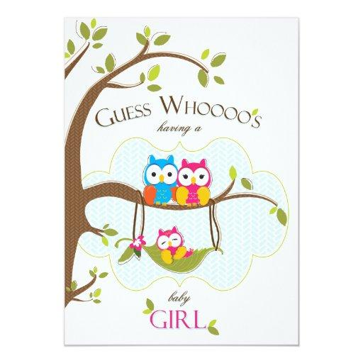 Baby Girl Shower  - Owl Family