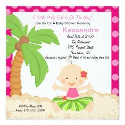 Baby Hula Girl Baby Shower