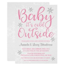 Baby It's Cold Outside  Invite - Pink
