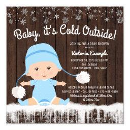 Baby its Cold Outside Boy Baby Shower