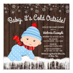 Baby its Cold Outside Boys Winter Baby Shower