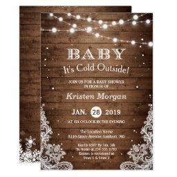 Baby Its Cold Outside Rustic Winter Baby Shower