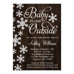 Baby It's Cold Outside Rustic Wood Baby Shower