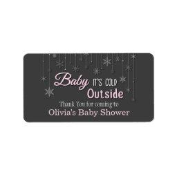 Baby Its Cold Outside Snowflakes  Label