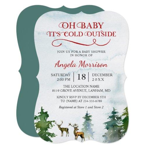 Baby Its Cold Outside Winter Woodland Baby Shower