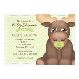 Baby Moose Baby Shower  - Green & Brown