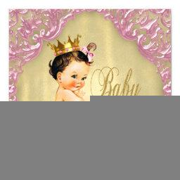 Baby Pink and Gold Foil Swirl Girl
