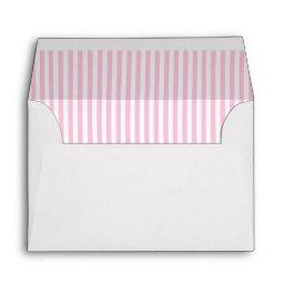 Baby Pink Striped Lining A6 Envelope