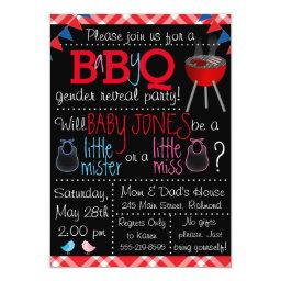 Baby-Q Gender Reveal Invitations
