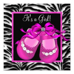 Baby Shoes Hot Pink Zebra Baby Girl Shower