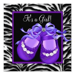 Baby Shoes Purple Zebra Baby Girl Shower