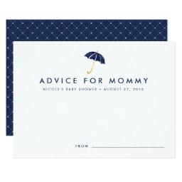 Baby Shower Advice Cards | Navy Umbrella