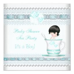 Baby Shower Baby Blue Teacup Tea Party