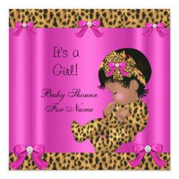Baby Cute Girl Leopard Hot Pink Gold