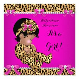 Baby Cute Girl Leopard Hot Pink Gold F