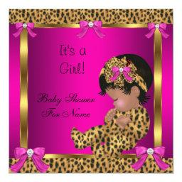 Baby Cute Girl Leopard Pink Gold 2