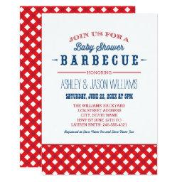 Baby Shower BBQ  | Red White  Blue