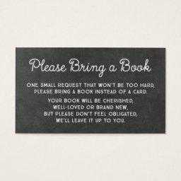 Baby Shower Book Request  Rustic Chalkboard
