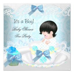 Baby Shower Boy Blue Baby Teacup Cupcake