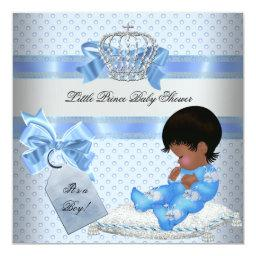 Baby Shower Boy Blue Little Prince Bunnies
