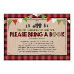 Bring a book Lumberjack Plaid Bear