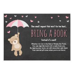Bring a Book Teddy Bear Pink Umbrella