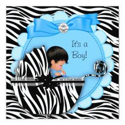 Cute Baby Boy Blue Zebra Pram
