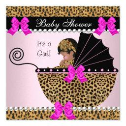 Cute Baby Girl Leopard Hot Pink