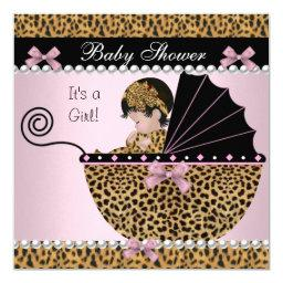 Cute Baby Girl Pink Leopard Bow