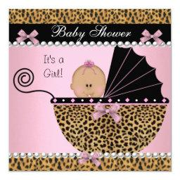 Cute Baby Girl Pink Leopard